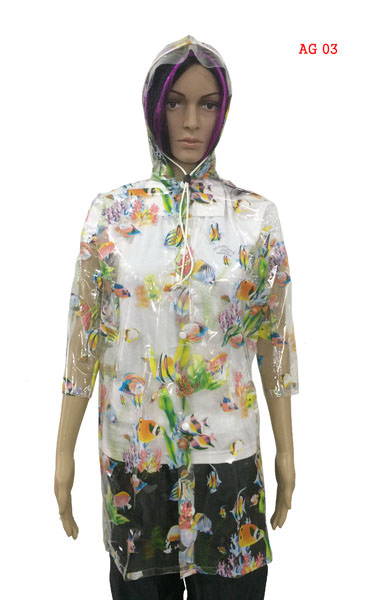Girls Raincoats - Clear Print